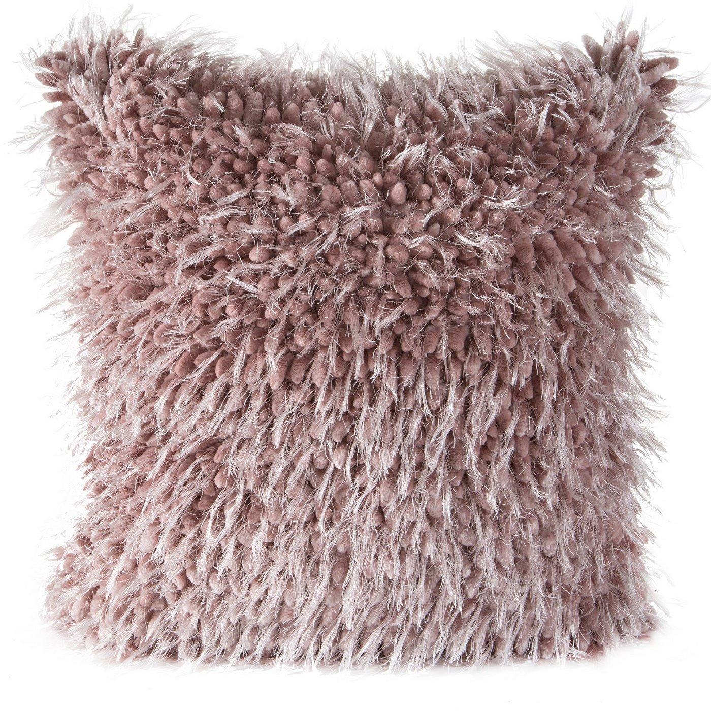 Poszewka na poduszkę 40 x 40 cm włochata różowa
