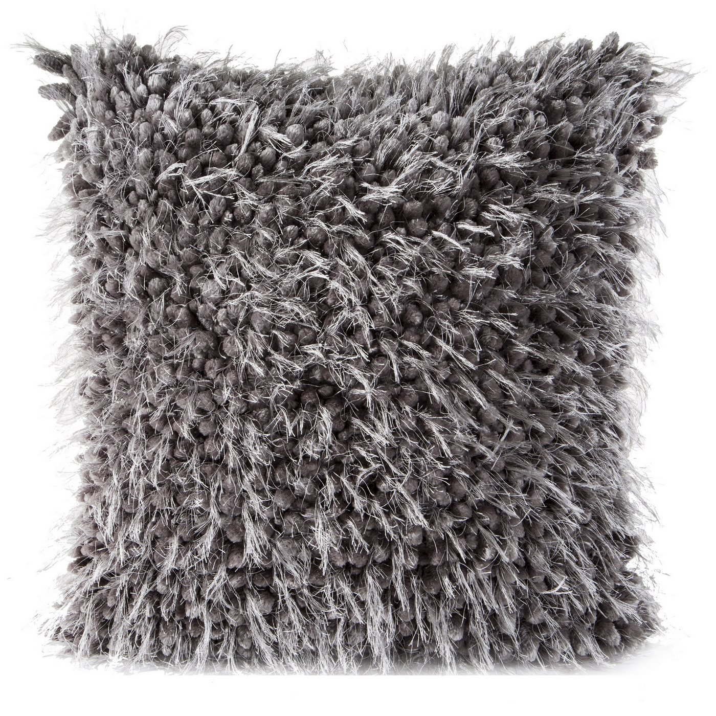 Poszewka na poduszkę 40 x 40 cm włochata grafitowa