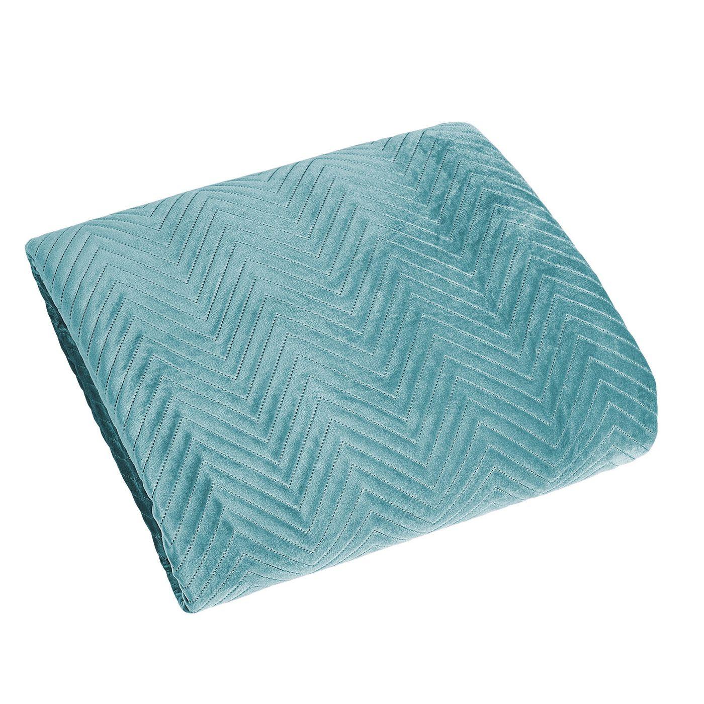 Minimalistyczna narzuta na łóżko miętowa 170x210 cm