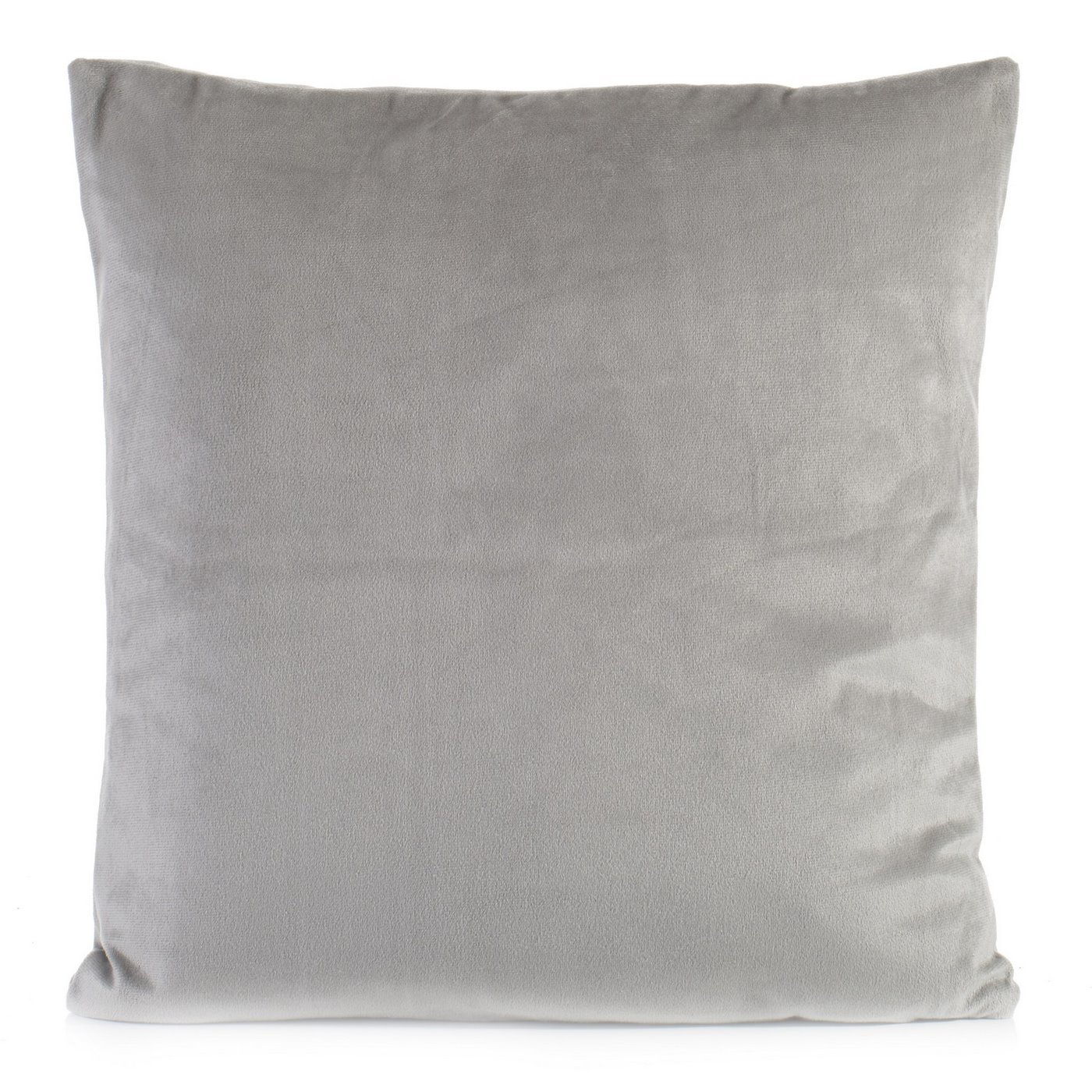 Poszewka na poduszkę gładka srebrna 40 x 40 cm