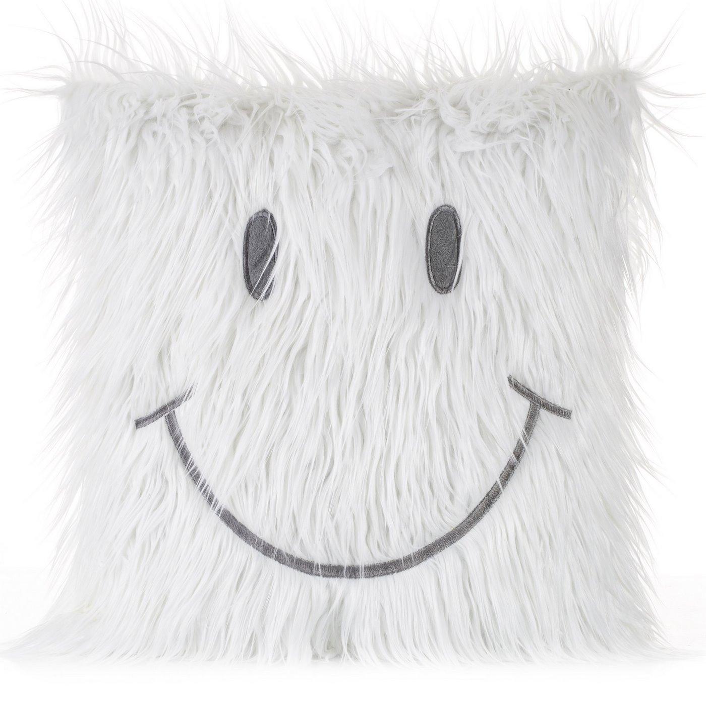 Poszewka na poduszkę futerko uśmiech 45 x 45 cm