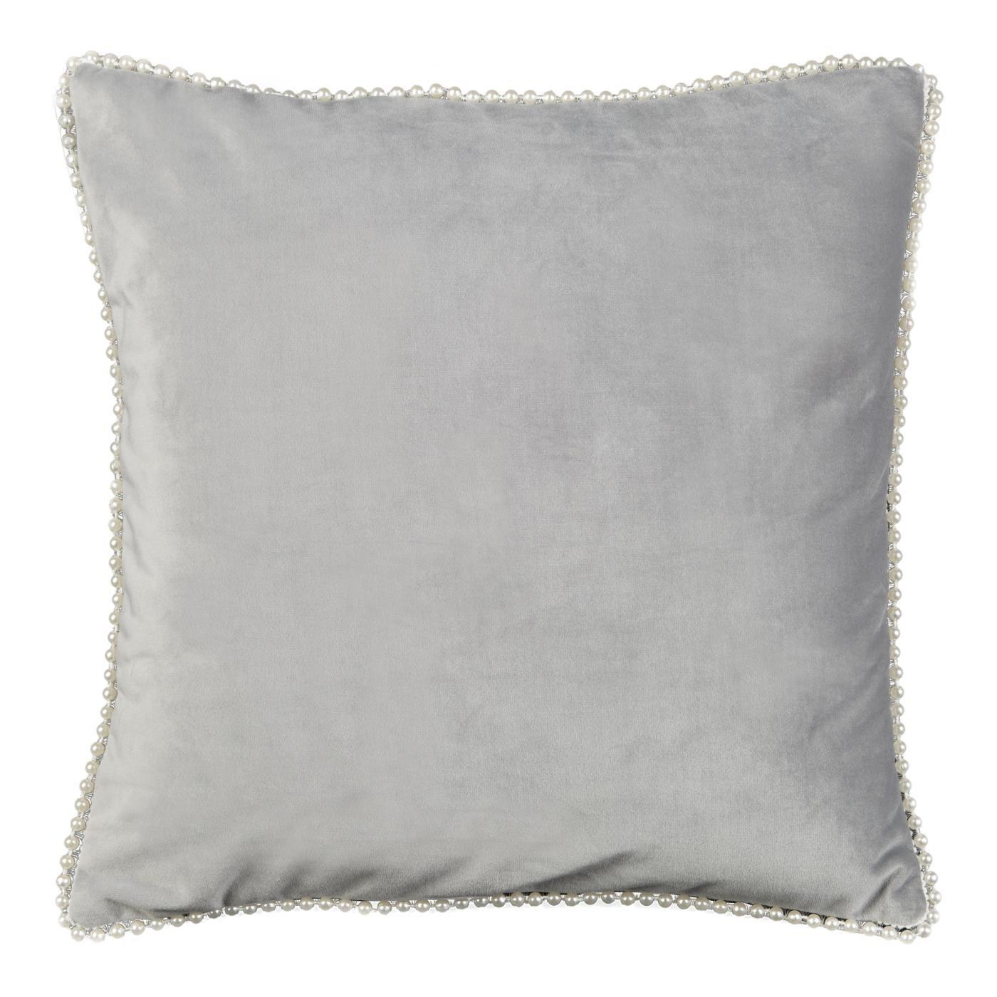 Poszewka na poduszkę 40 x 40 cm srebrno biała