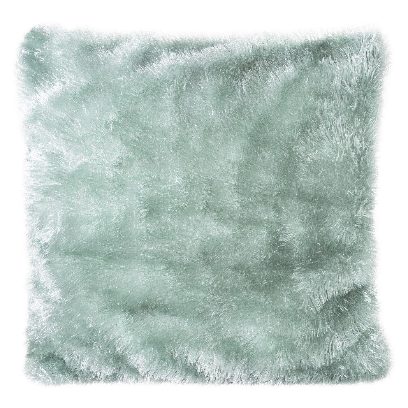 Poszewka na poduszkę futerko miętowa 40 x 40 cm
