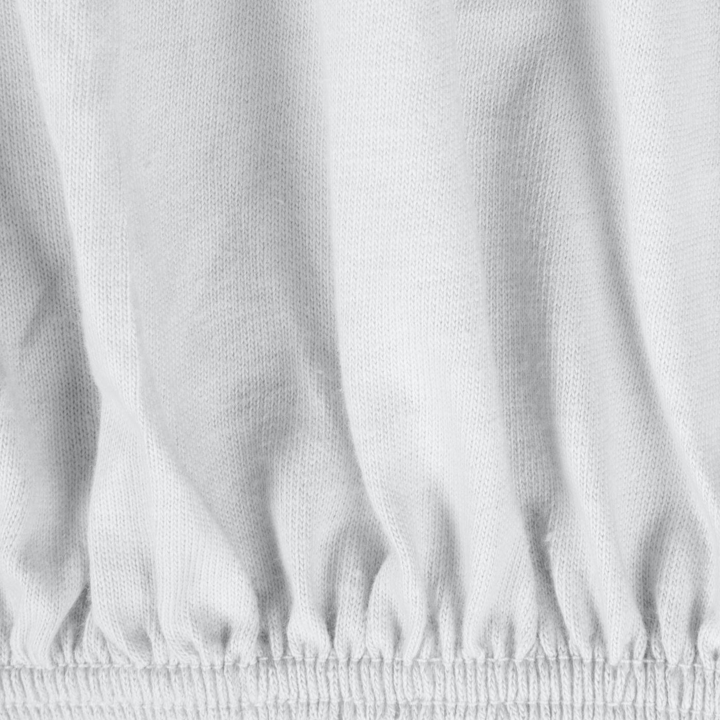 Prześcieradło bawełniane gładkie 90x200+25cm 140 kolor biały