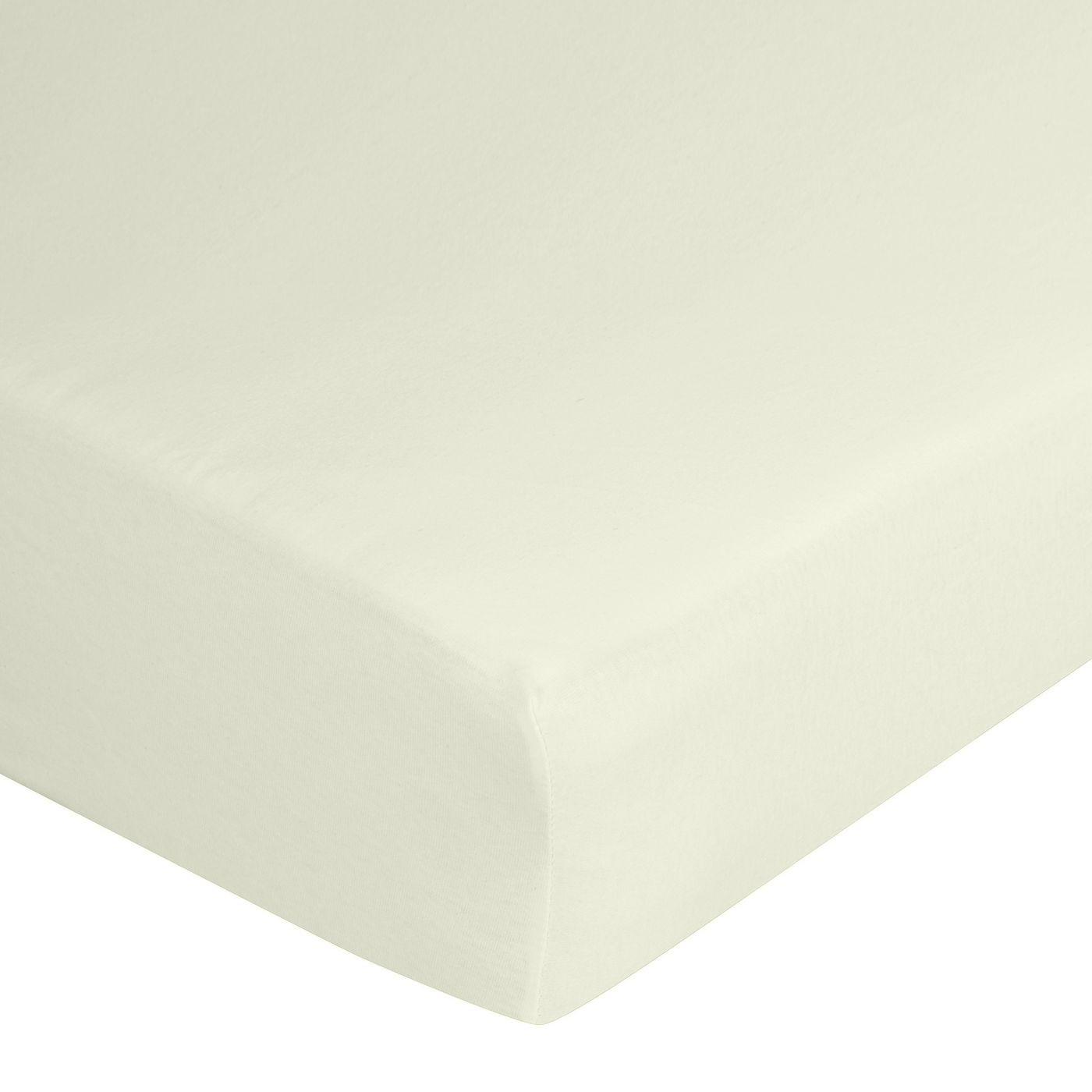 Prześcieradło bawełniane gładkie 90x200+25cm 140 kolor kremowy
