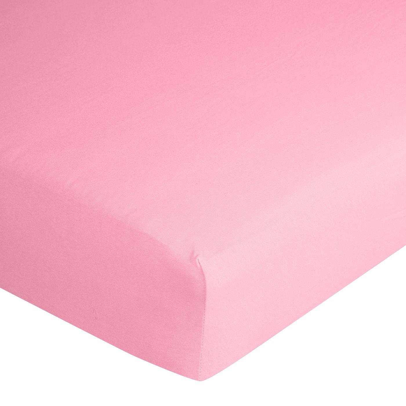 Prześcieradło bawełniane gładkie 90x200+25cm 140 kolor różowy