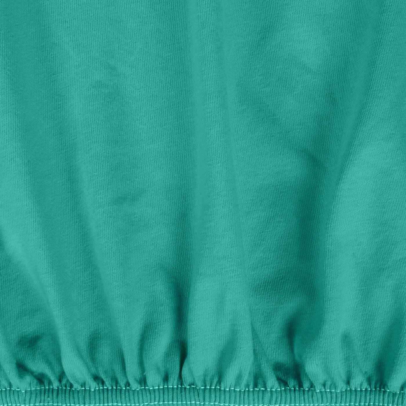 Prześcieradło bawełniane gładkie 120x200+25cm 140 kolor turkusowy