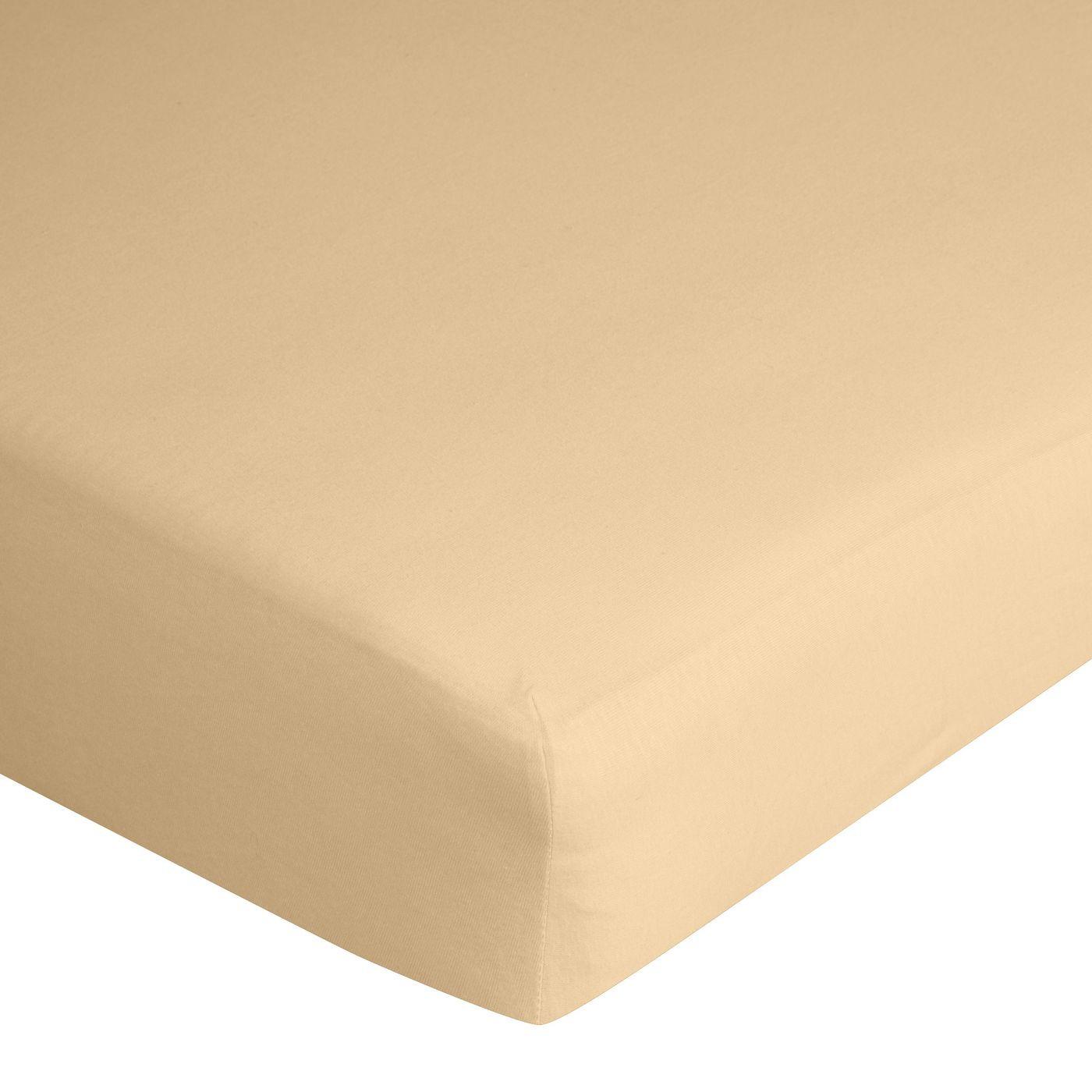 Prześcieradło bawełniane gładkie 180x200+25cm 140 kolor morelowy