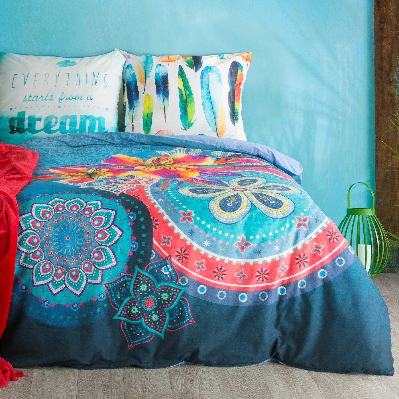 Komplet pościeli z bawełny hiszpańskiej 160 x 200 cm, 2 szt. 70 x 80 styl boho bawełna hiszpańska
