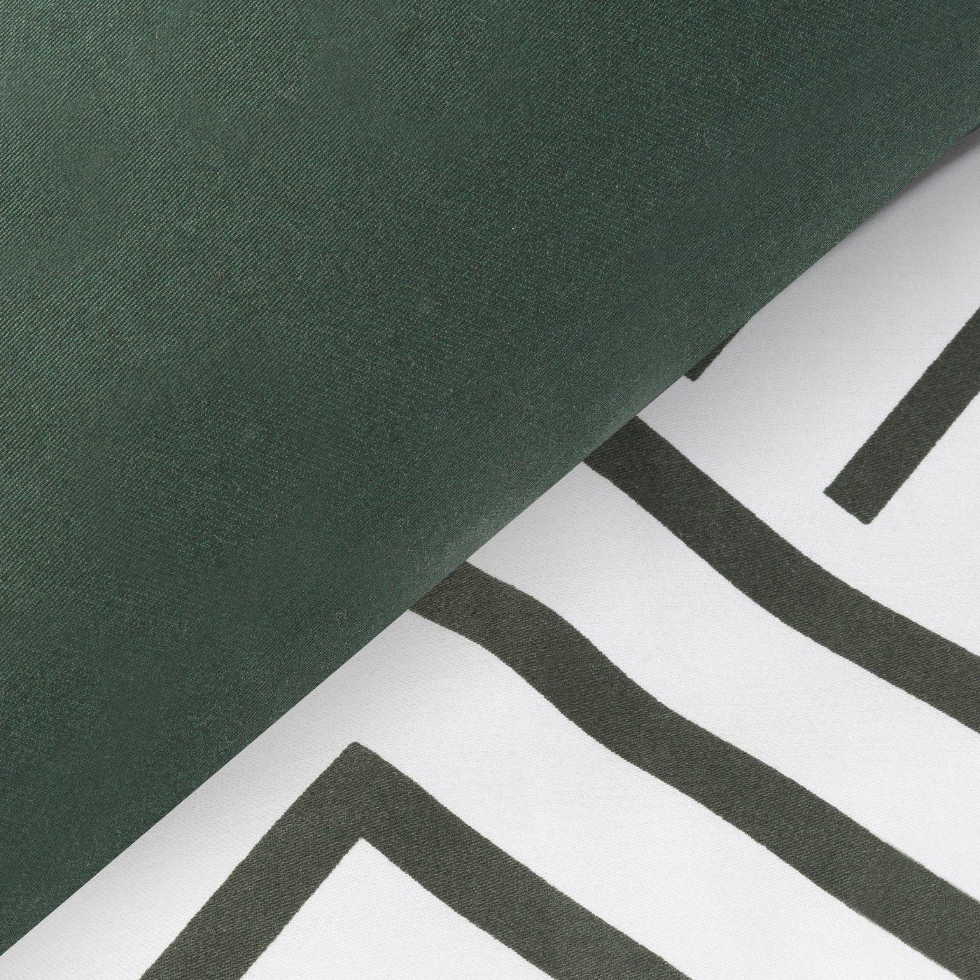 Komplet pościeli satyna bawełniana 160x200+2szt. 70x80 z geometrycznym nadrukiem w stylu opt art