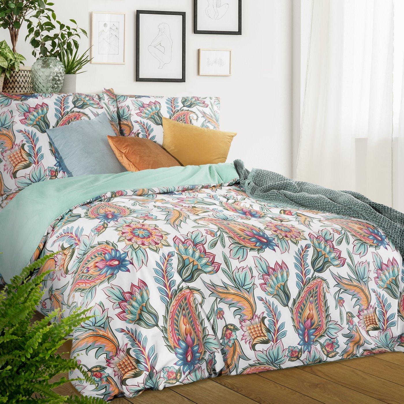Komplet pościeli bawełnianej 160 x 200 cm, 2 szt. 70 x 80 styl boho bawełna hiszpańska
