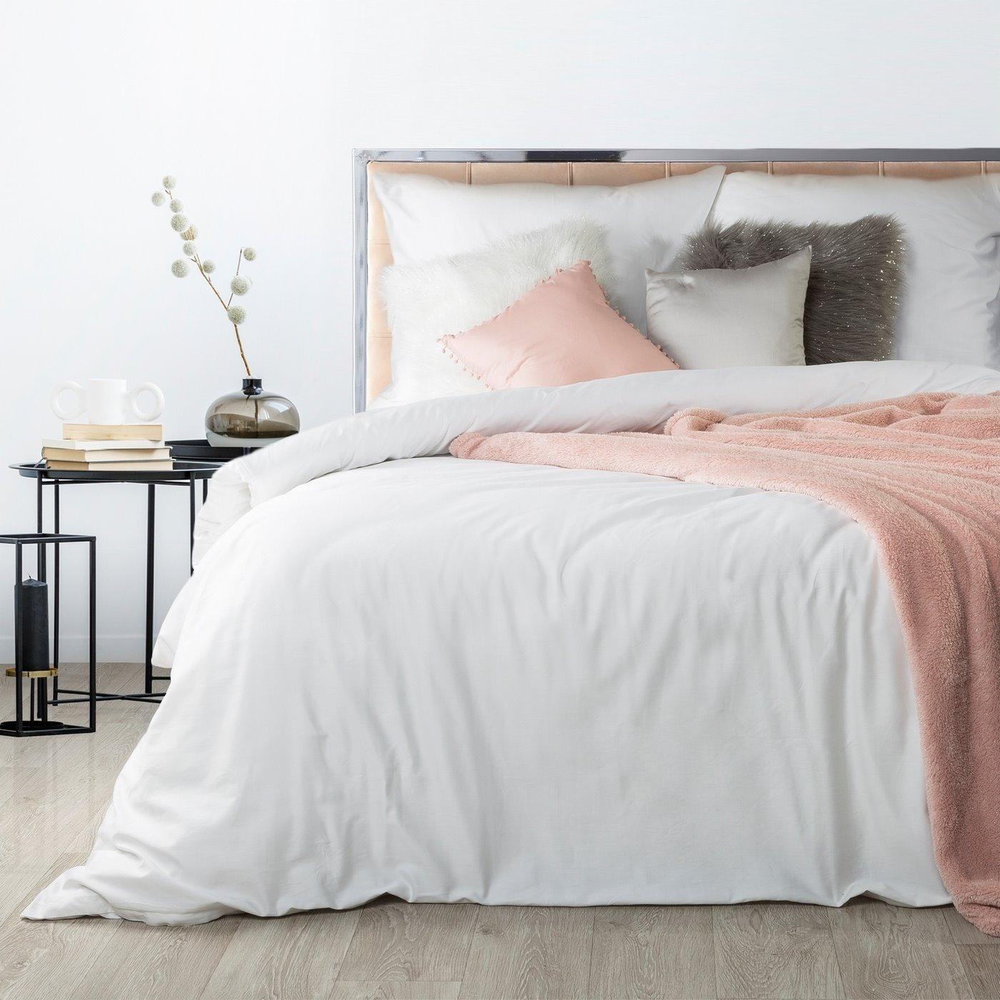 Komplet pościeli z makosatyny bawełnianej 160 x 200 cm, 2szt. 70 x 80 cm, biała
