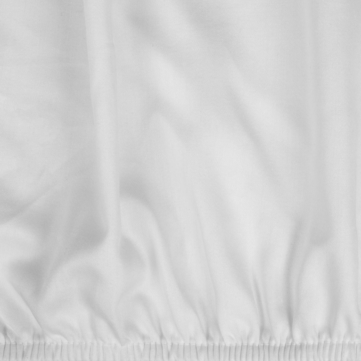 Prześcieradło Z Makosatyny Gładkie 160X200+30CM kolor Biały
