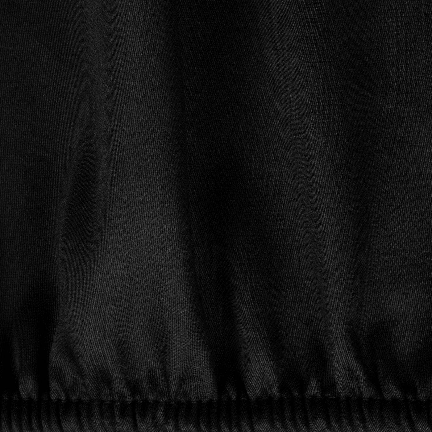 Prześcieradło Z Makosatyny Gładkie 220X200+30CM kolor Czarny