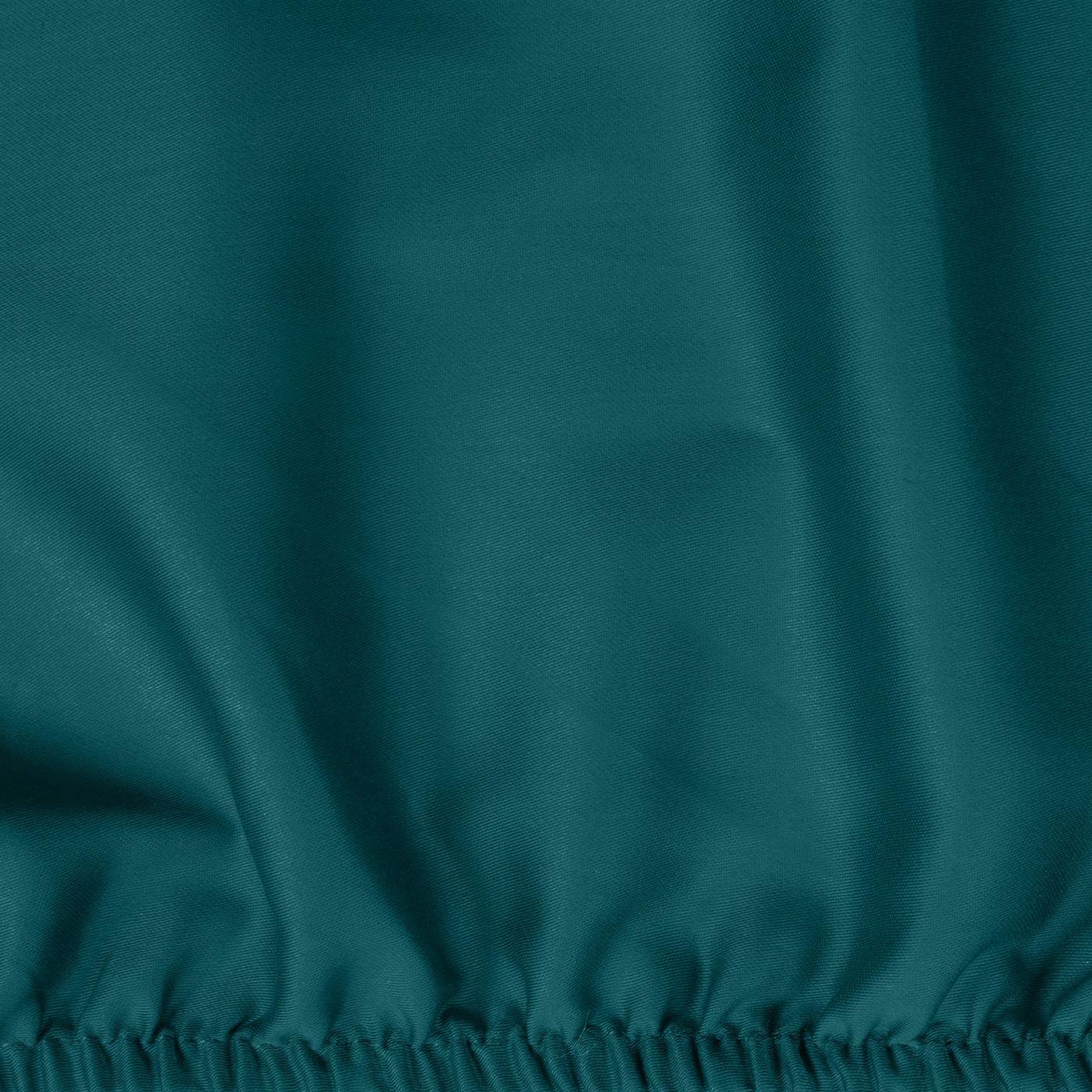 Prześcieradło z makosatyny gładkie 220x200+30cm kolor turkusowy