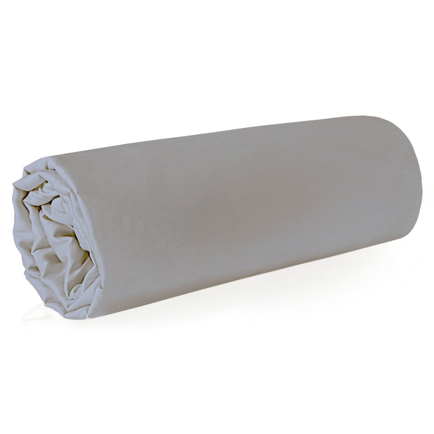 Prześcieradło z makosatyny gładkie 160x210 kolor srebrny