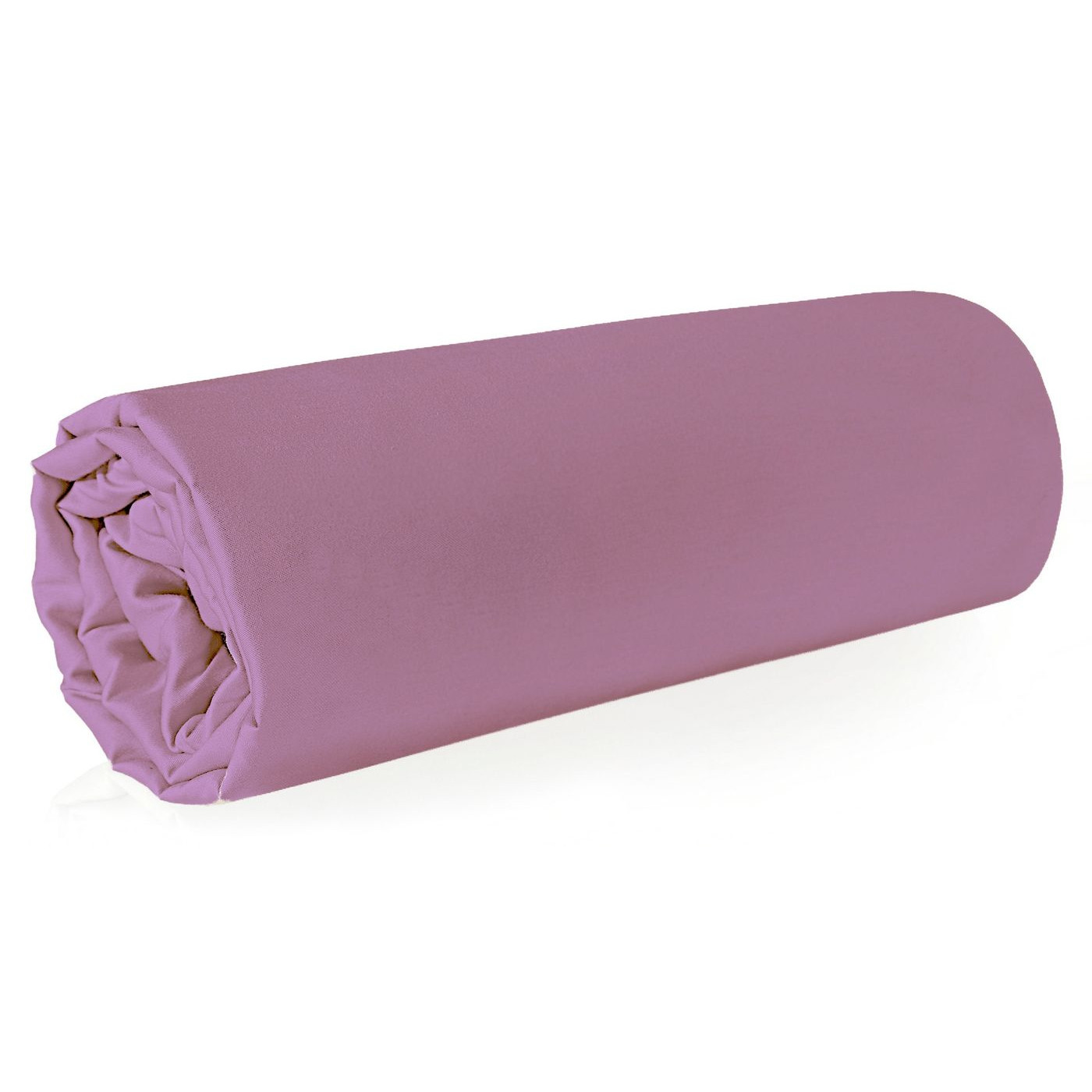 Prześcieradło z makosatyny gładkie 160x210 kolor różowy