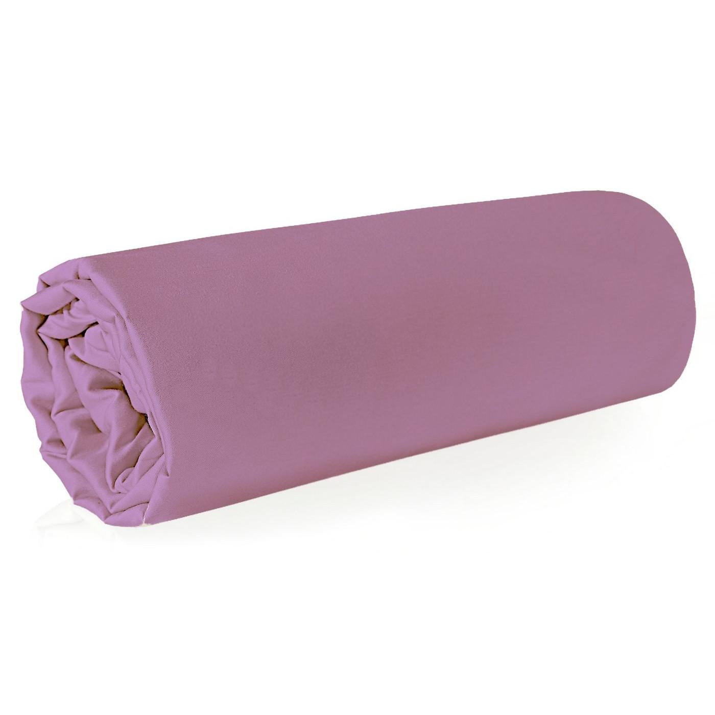 Prześcieradło z makosatyny gładkie 180x210 kolor różowy