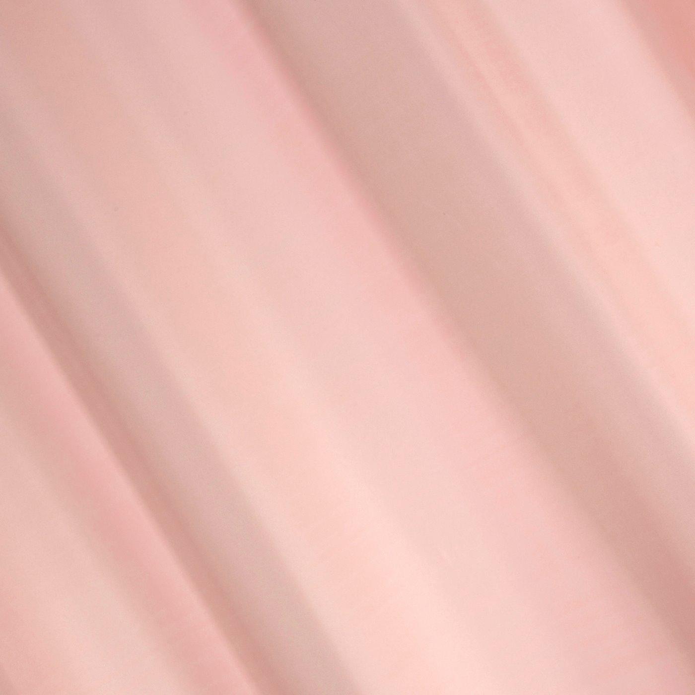 Gładka zasłona z matowej satyny w kolorze pudrowym 140x250 przelotki