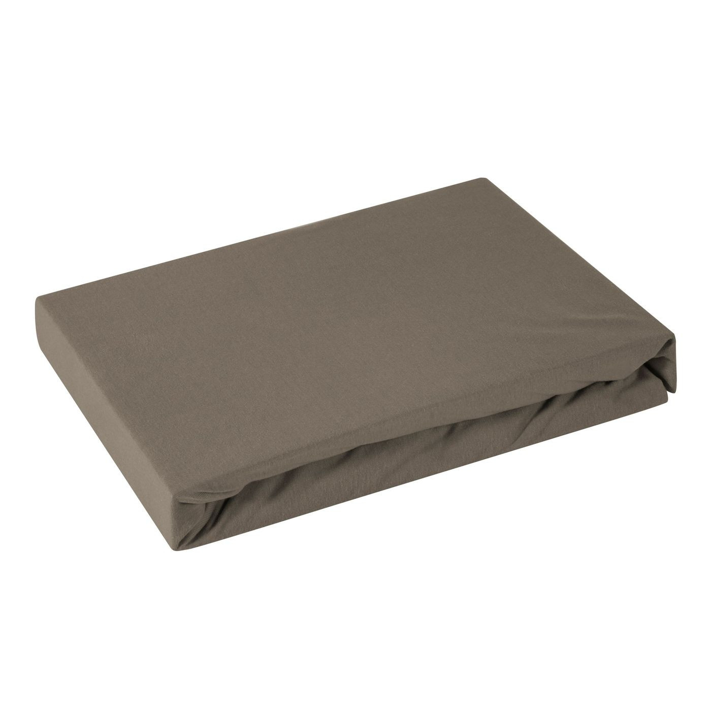 Prześcieradło bawełniane gładkie 180x200+25cm 160 kolor brązowy