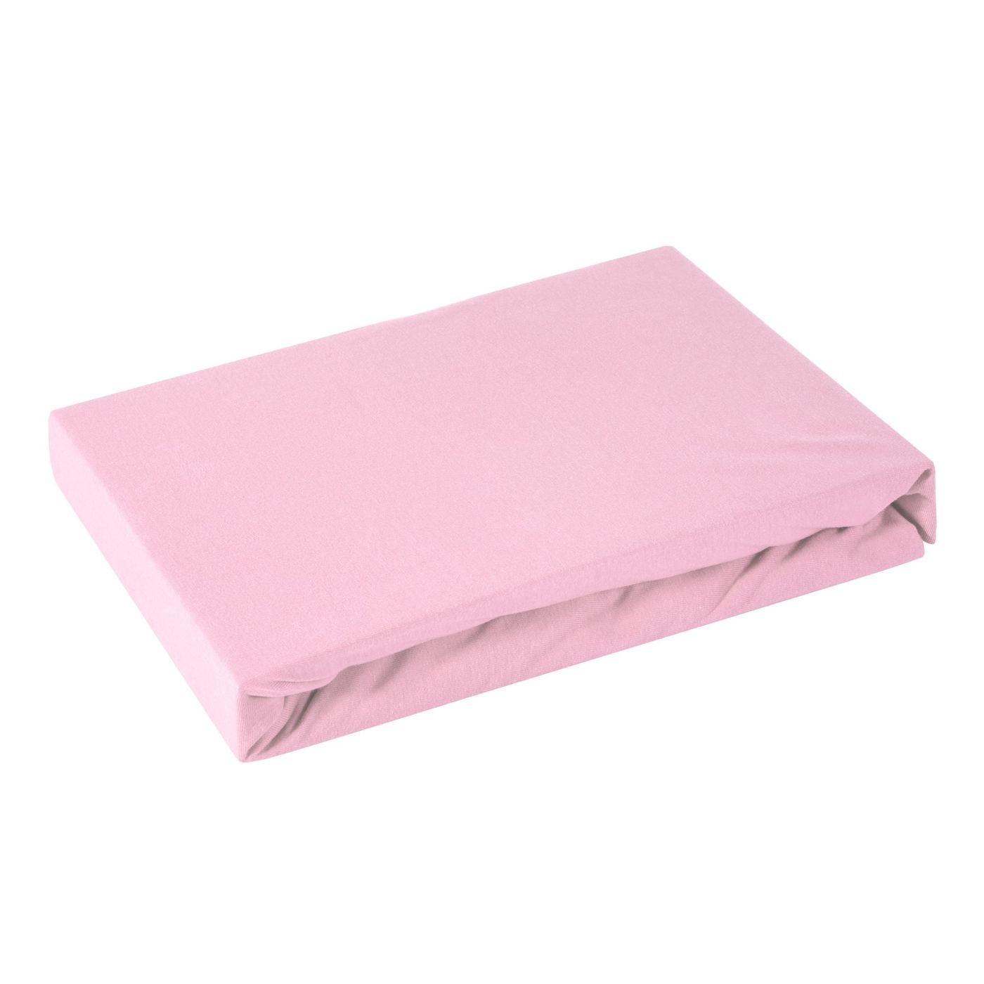 Prześcieradło bawełniane gładkie 120x200+25cm 160 kolor różowy