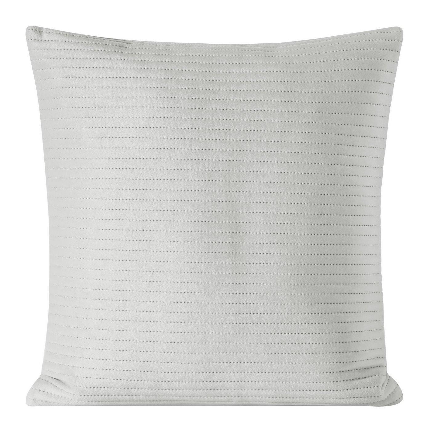 Poszewka dekoracyjna na poduszkę 45 x 45 kolor srebrny