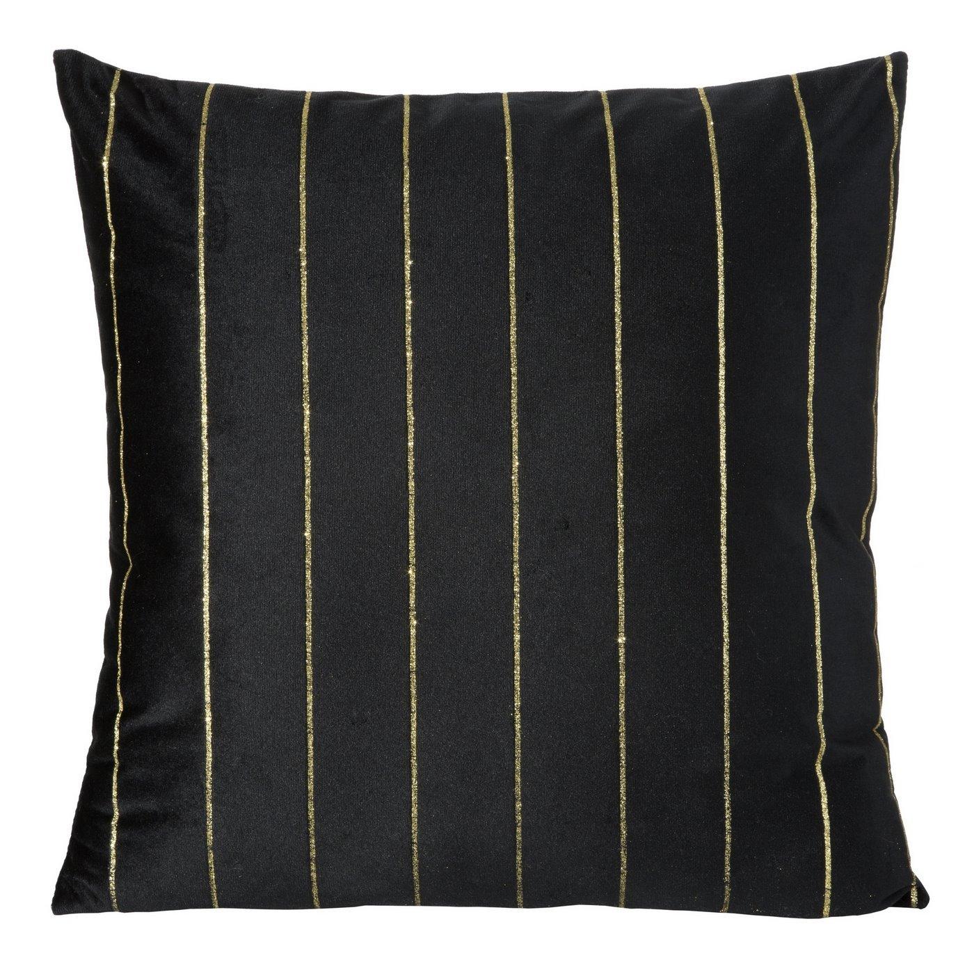 Poszewka dekoracyjna na poduszkę  45 x 45 Kolor Czarny