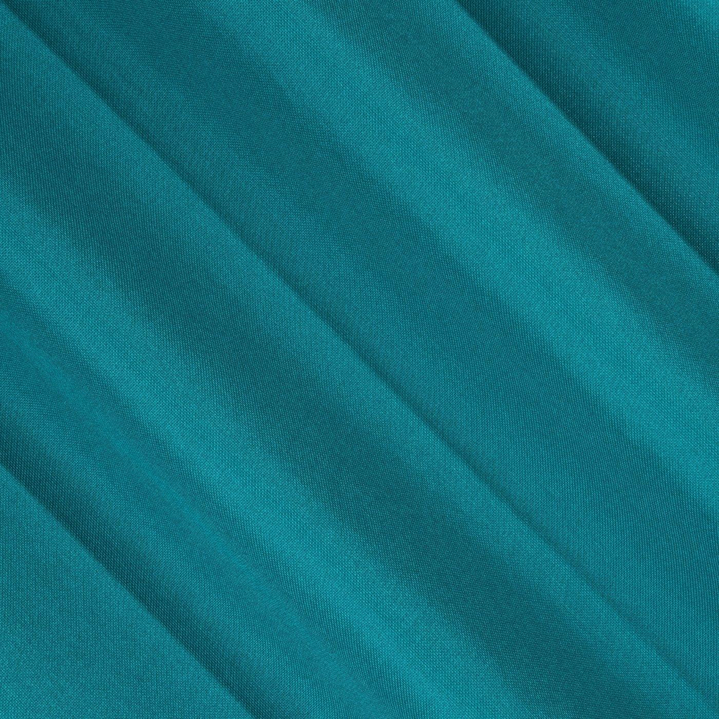 Gruba zasłona turkusowa 135x250 na przelotkach