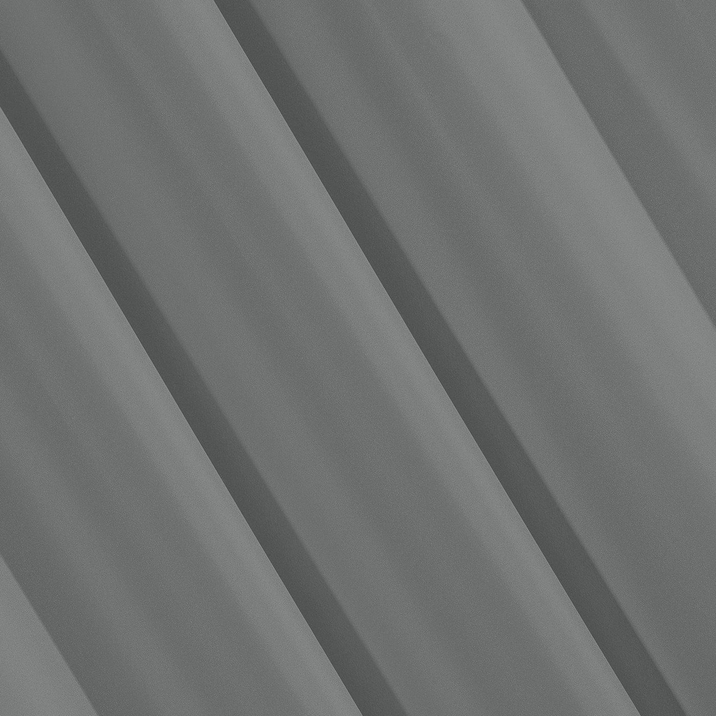 Szara gładka zasłona z matowej satyny 140x250 przelotki