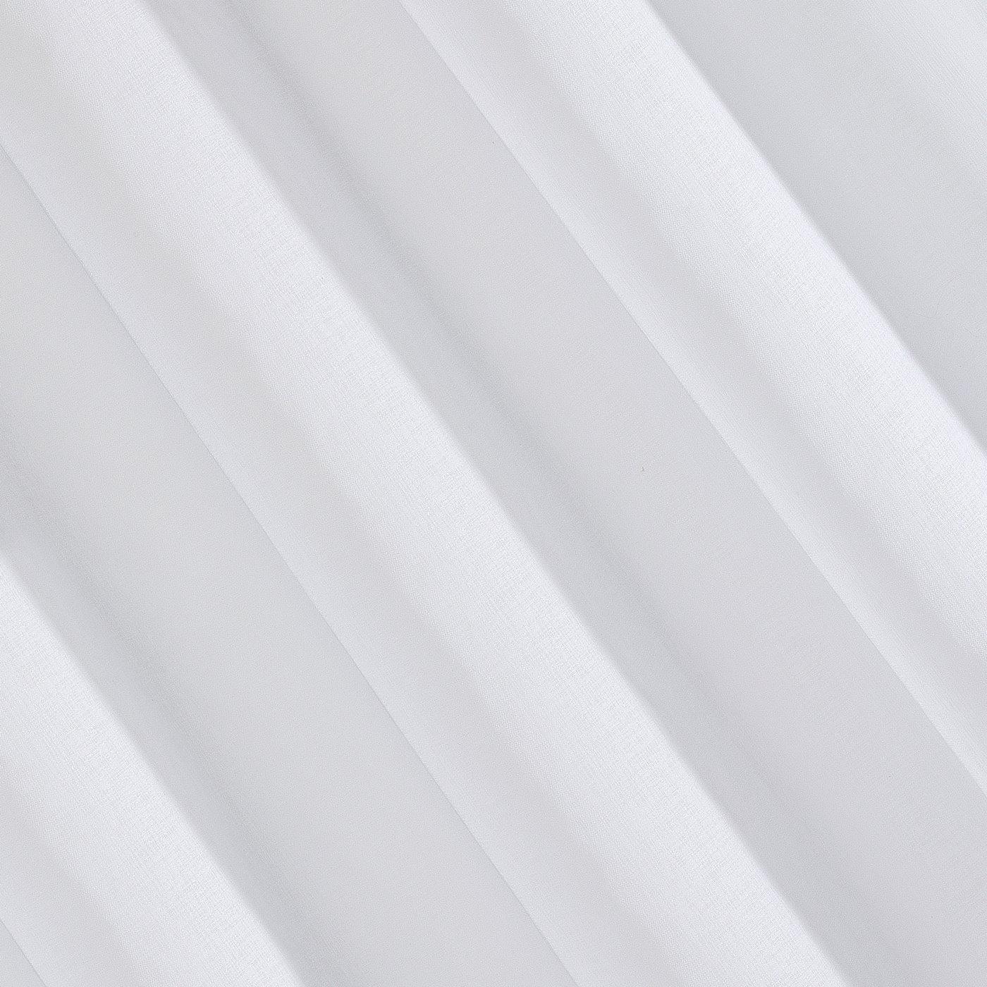 Gładka biała firana gotowa na przelotkach 140x250 cm