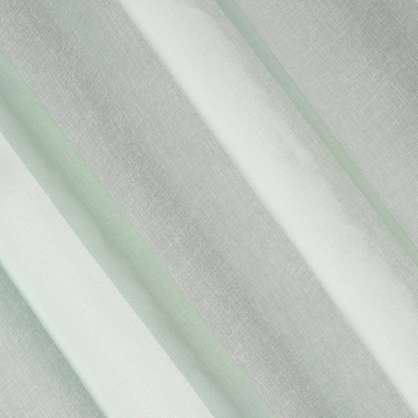 Firana miętowa zwiewna z etaminy 140 x 270 cm na taśmie