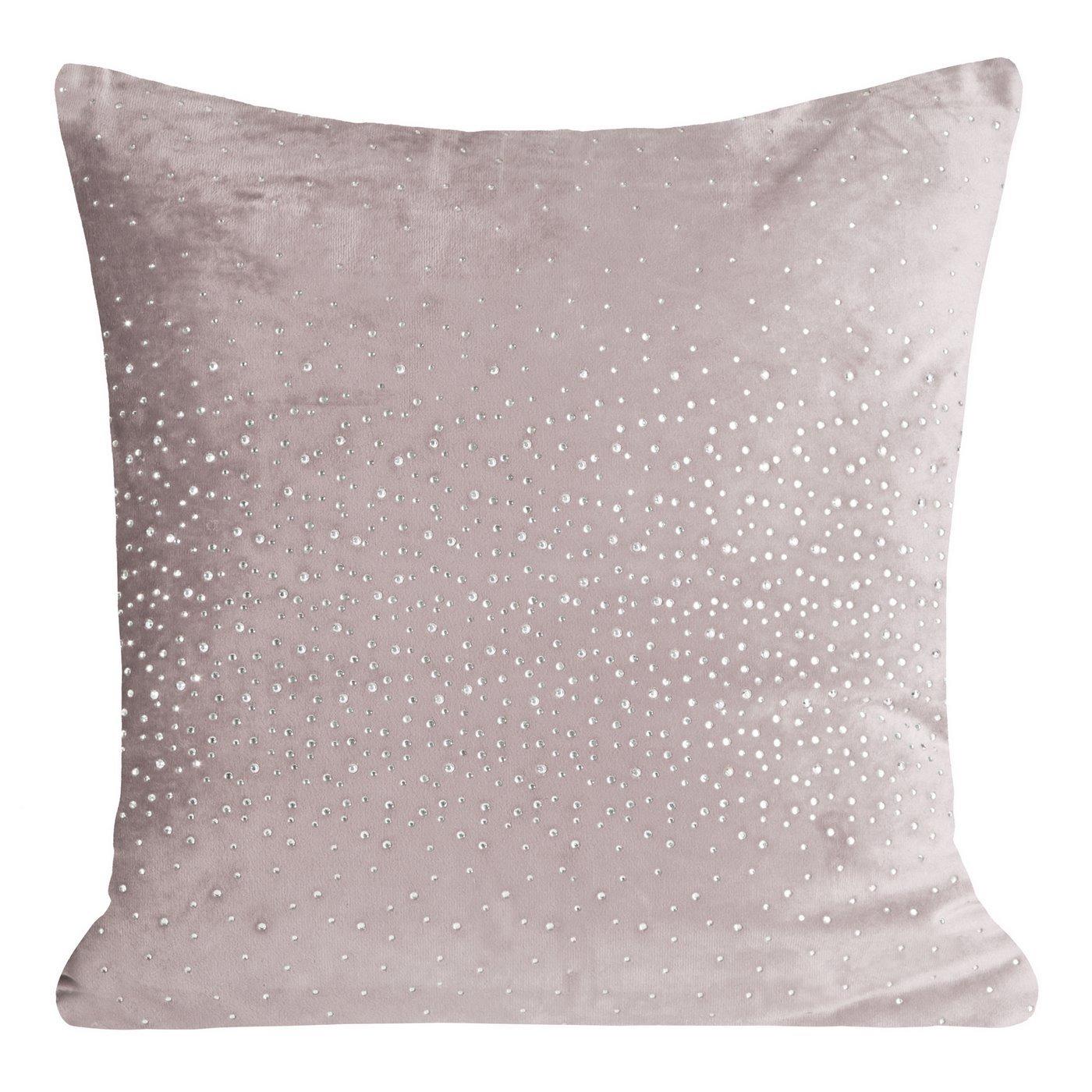 Poszewka dekoracyjna na poduszkę 45 x 45 kolor c.różowy