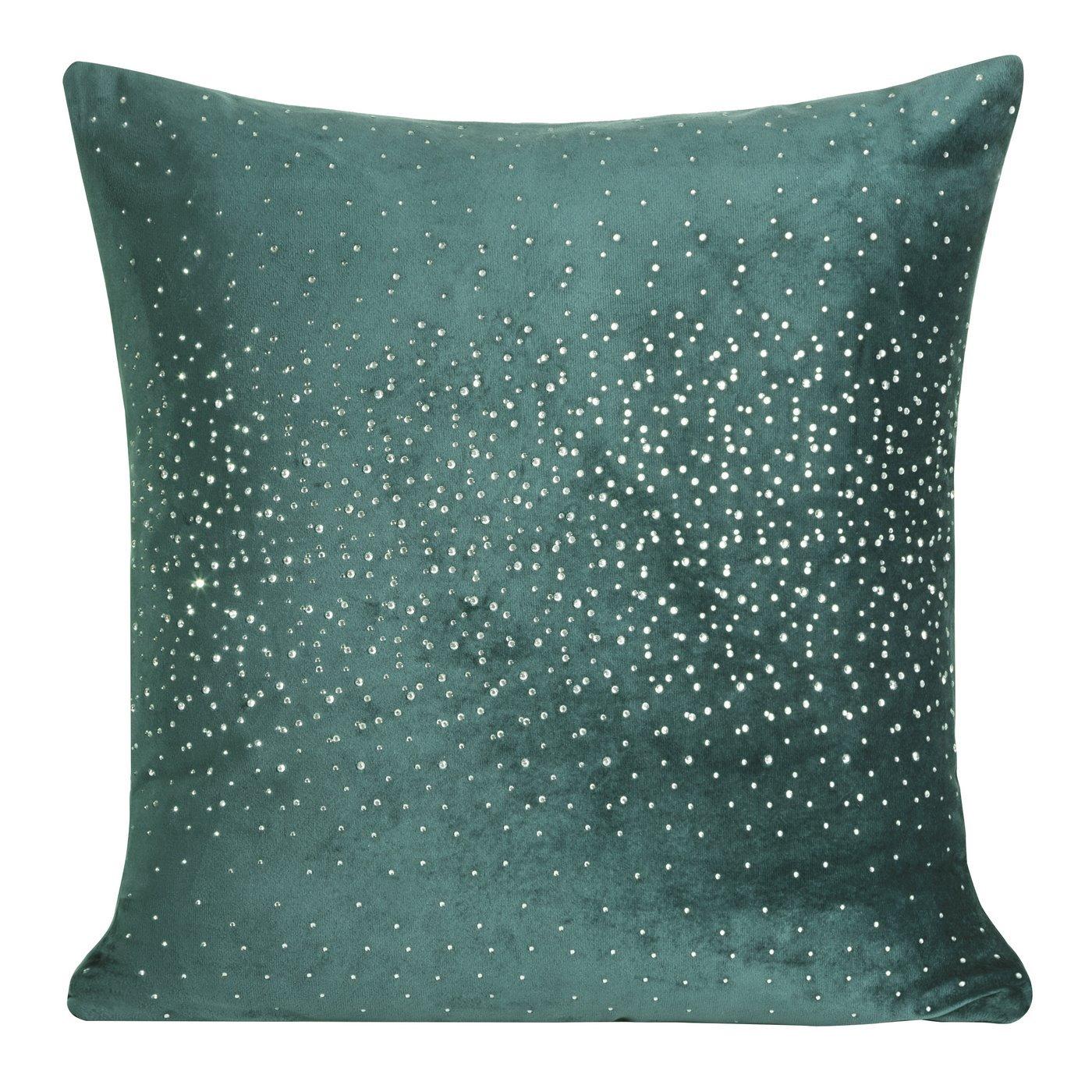 Poszewka dekoracyjna na poduszkę 45 x 45 kolor turkusowy