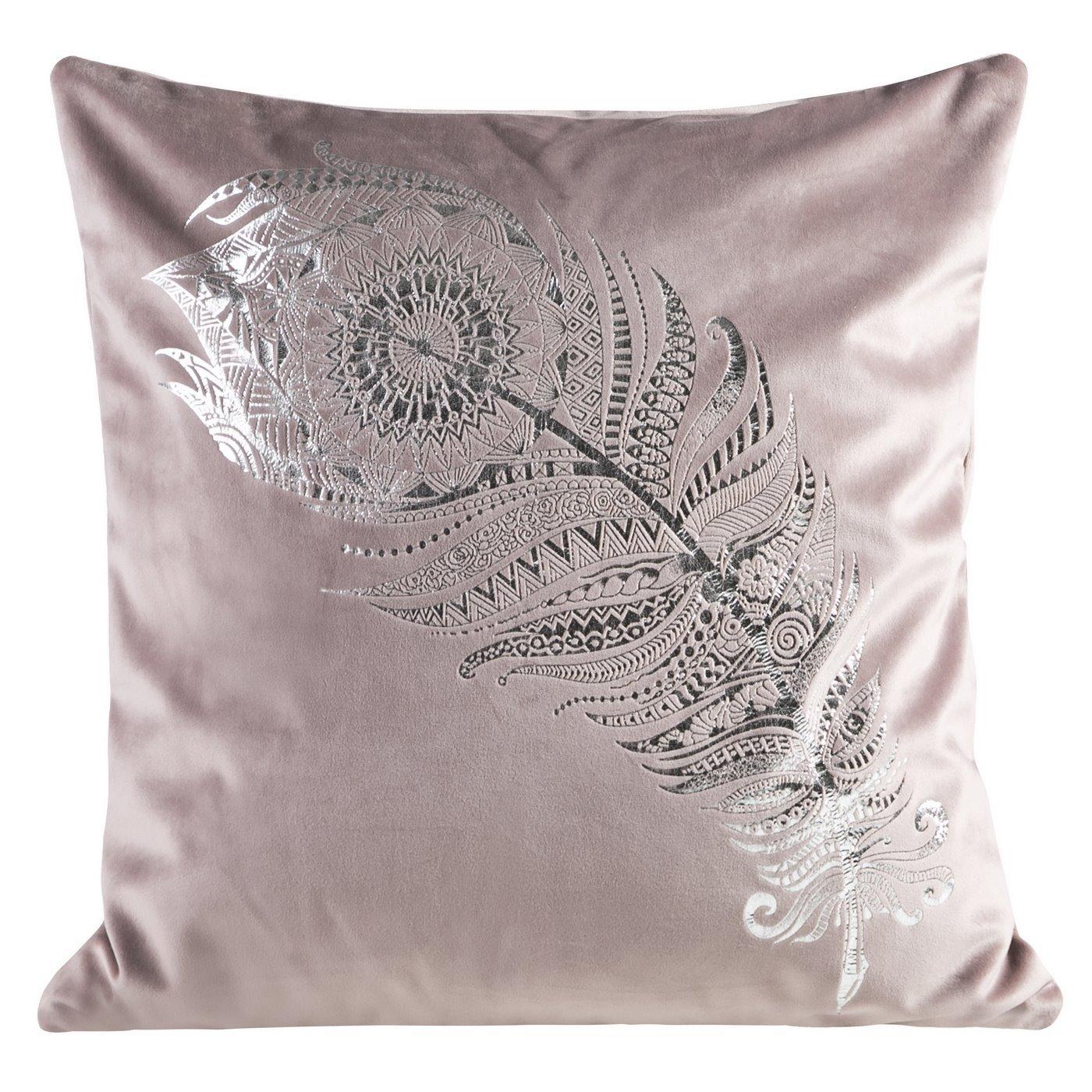 Poszewka dekoracyjna na poduszkę 45 x 45 kolor różowy