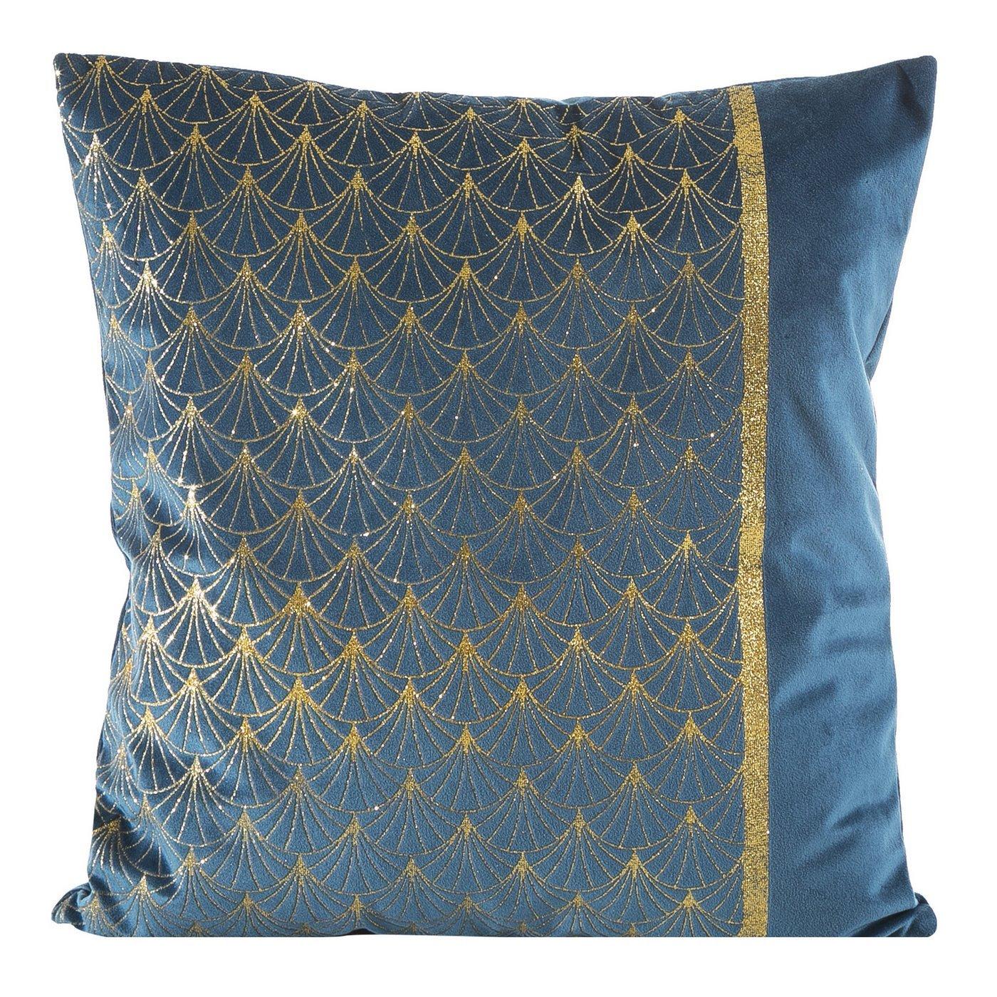 Poszewka dekoracyjna na poduszkę 45 x 45 kolor granatowy