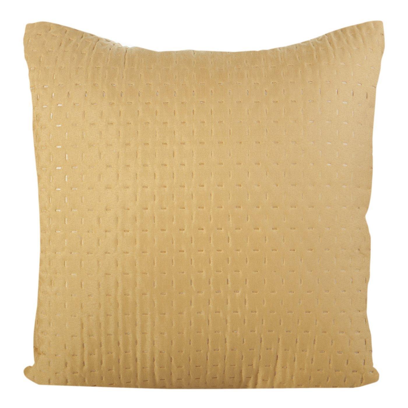 Poszewka na poduszkę pikowana żółta 40 x 40 cm