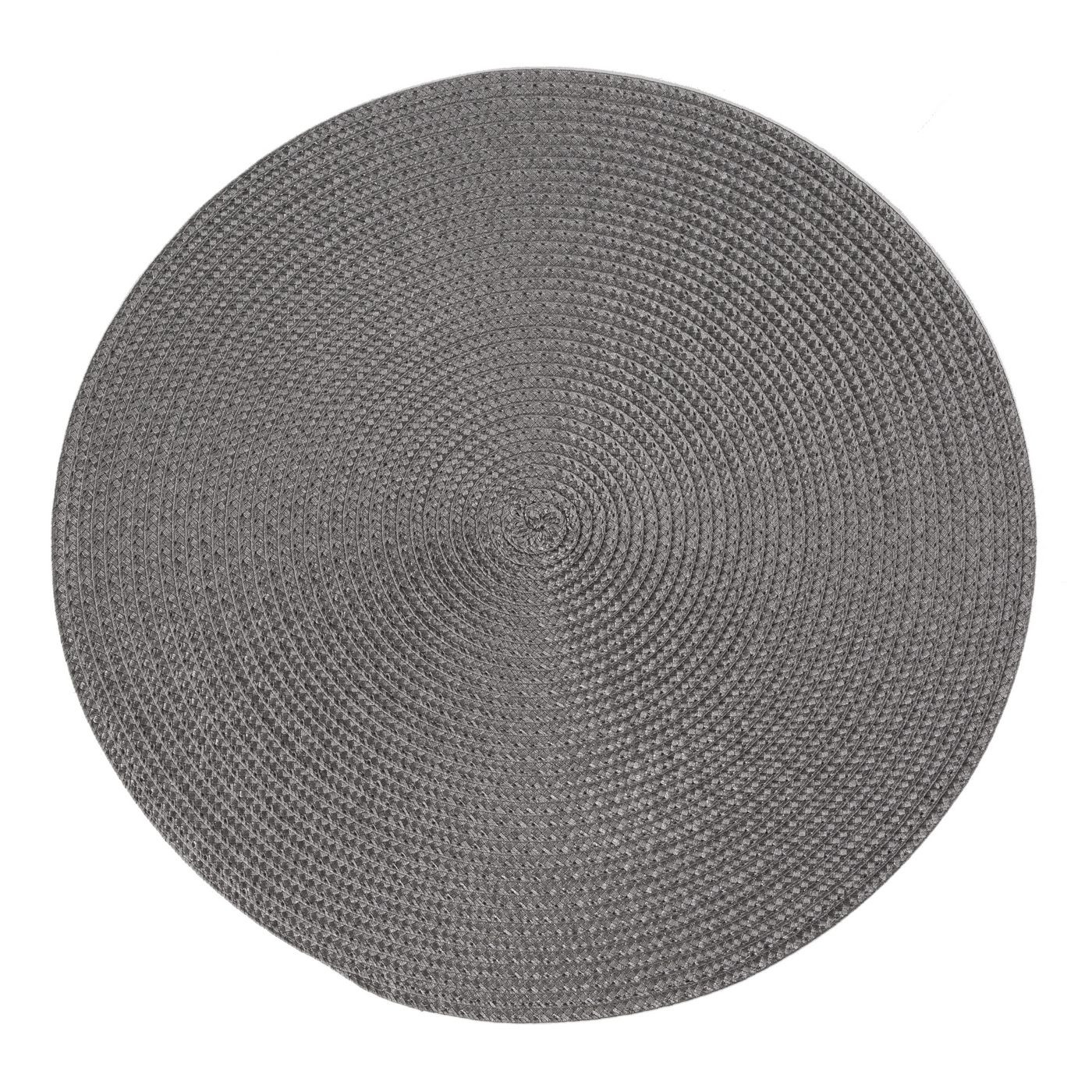 Okrągła podkładka stołowa stalowy szary średnica 38 cm