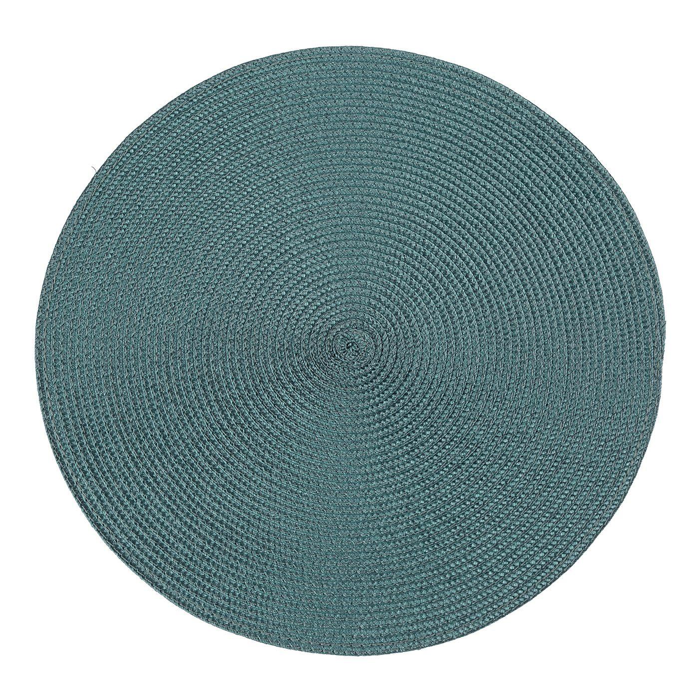 Okrągła podkładka stołowa ciemny turkus średnica 38 cm