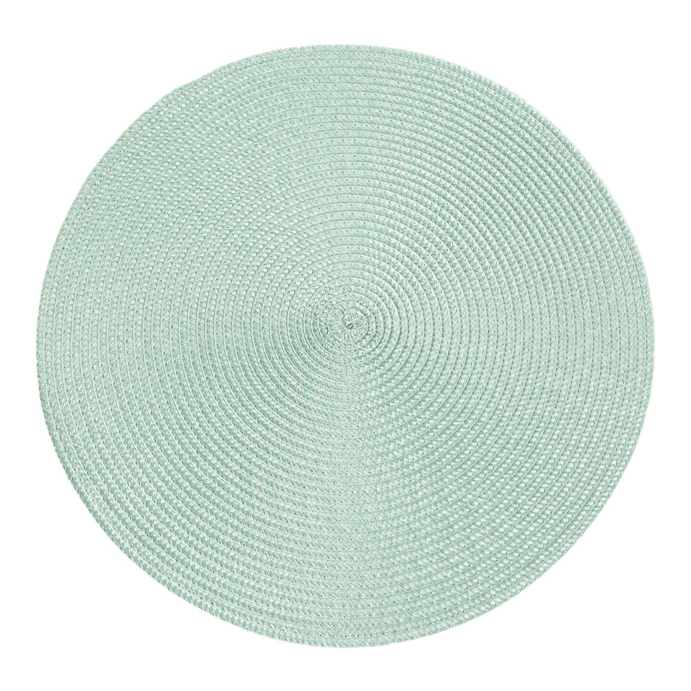 Okrągła podkładka stołowa miętowa średnica 38 cm