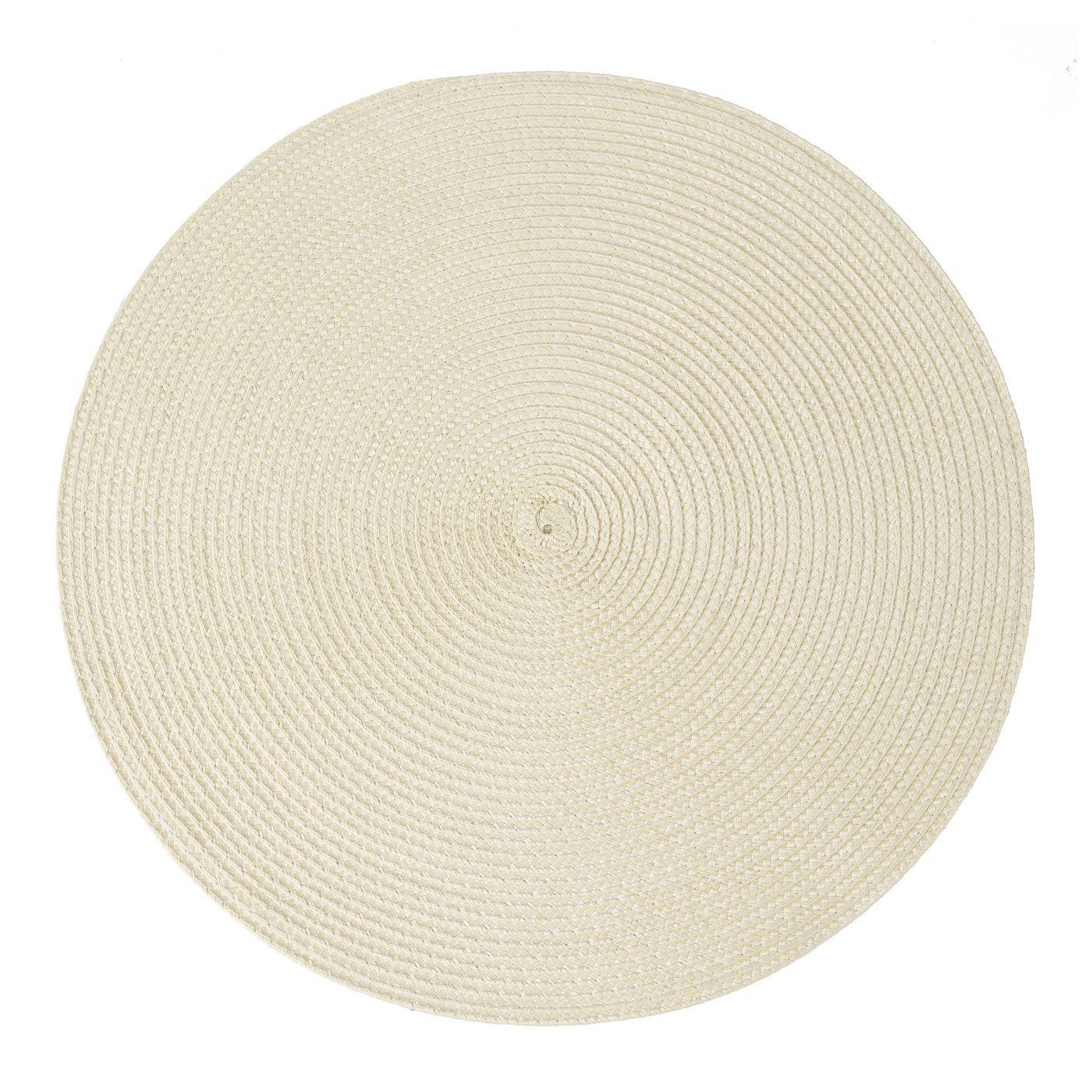Okrągła podkładka stołowa beżowa średnica 38 cm