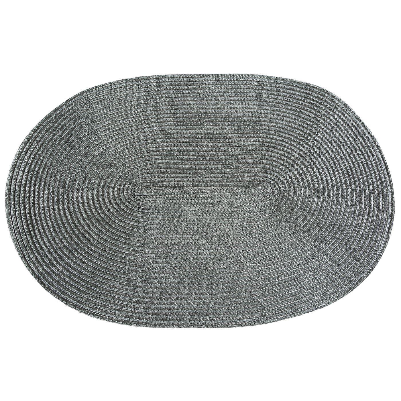 Owalna podkładka stołowa stalowy szary 30x45 cm