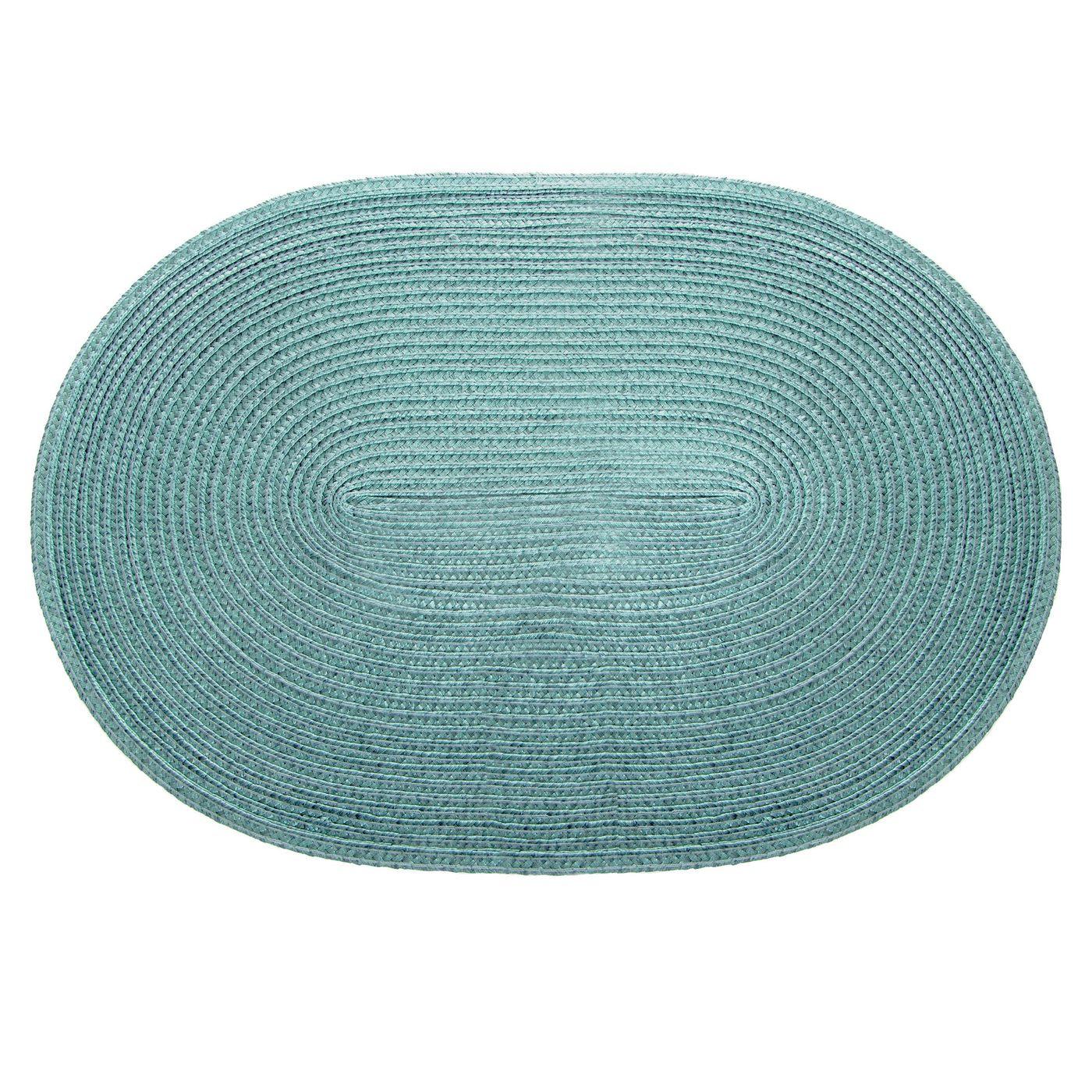Owalna podkładka stołowa miętowa 30x45 cm