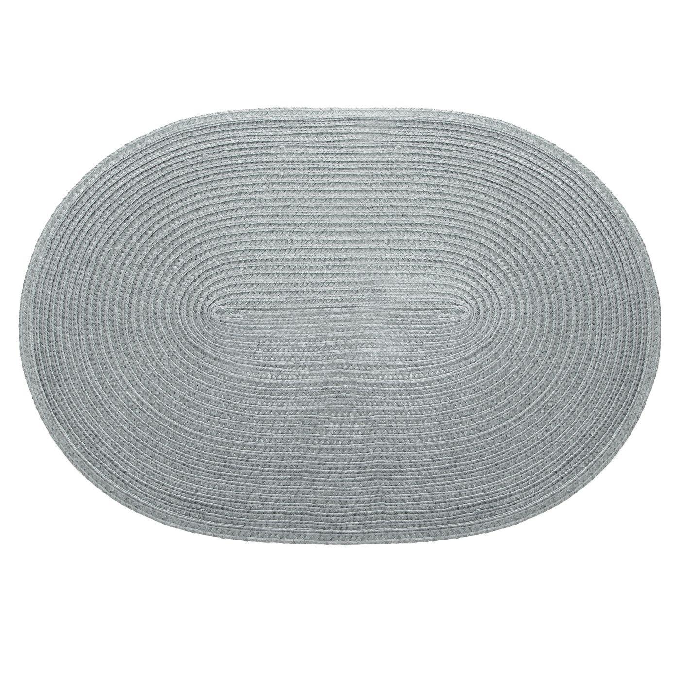 Owalna podkładka stołowa popielata 30x45 cm