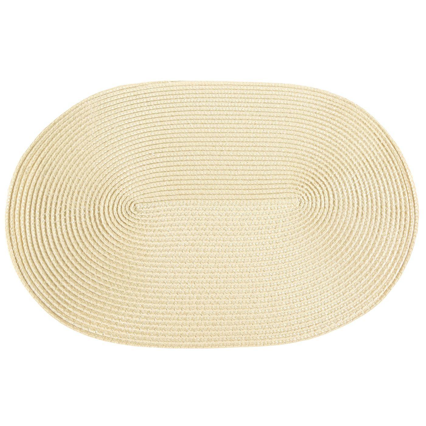 Owalna podkładka stołowa beżowa 30x45 cm