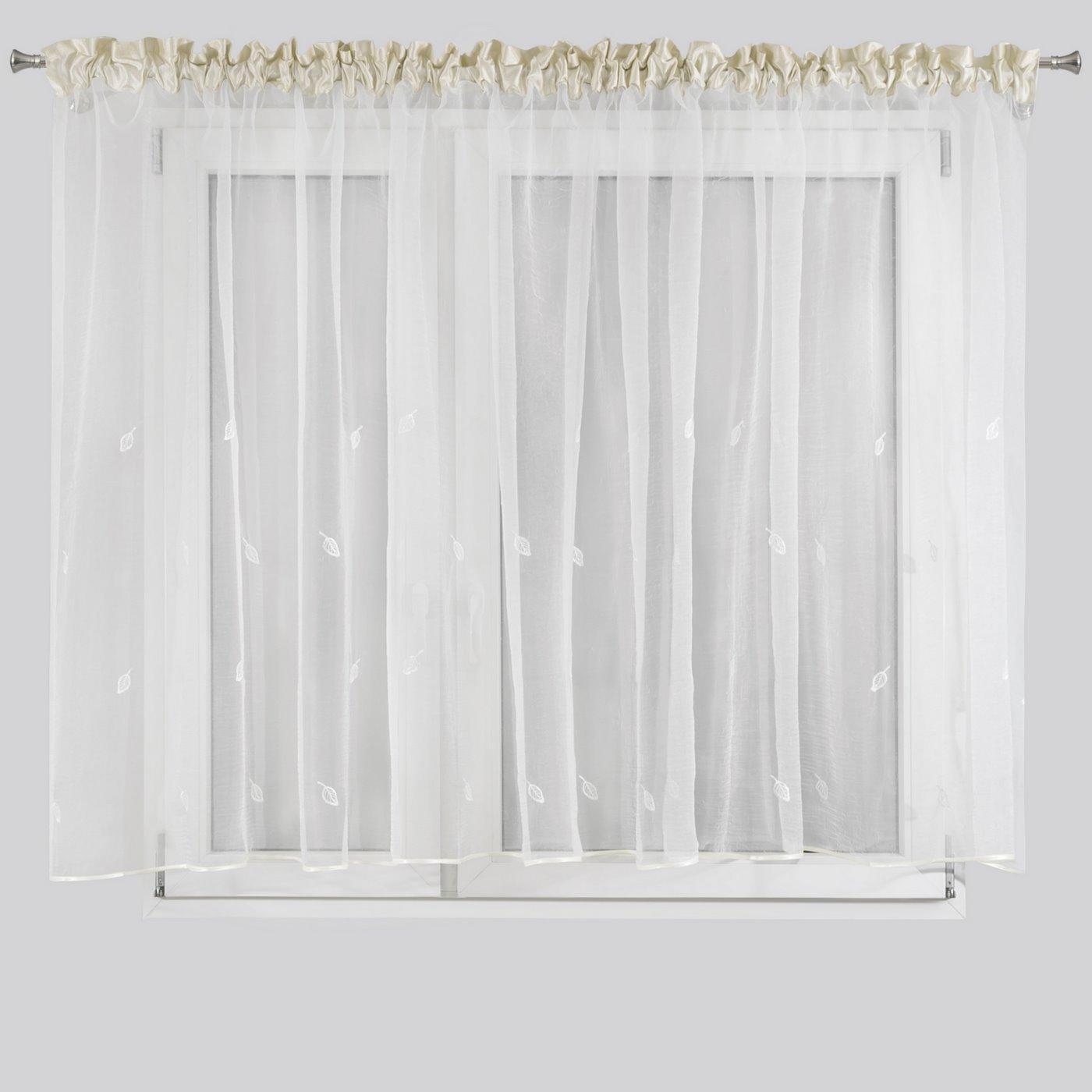 Firana eleonora biała na taśmie 400x145 cm