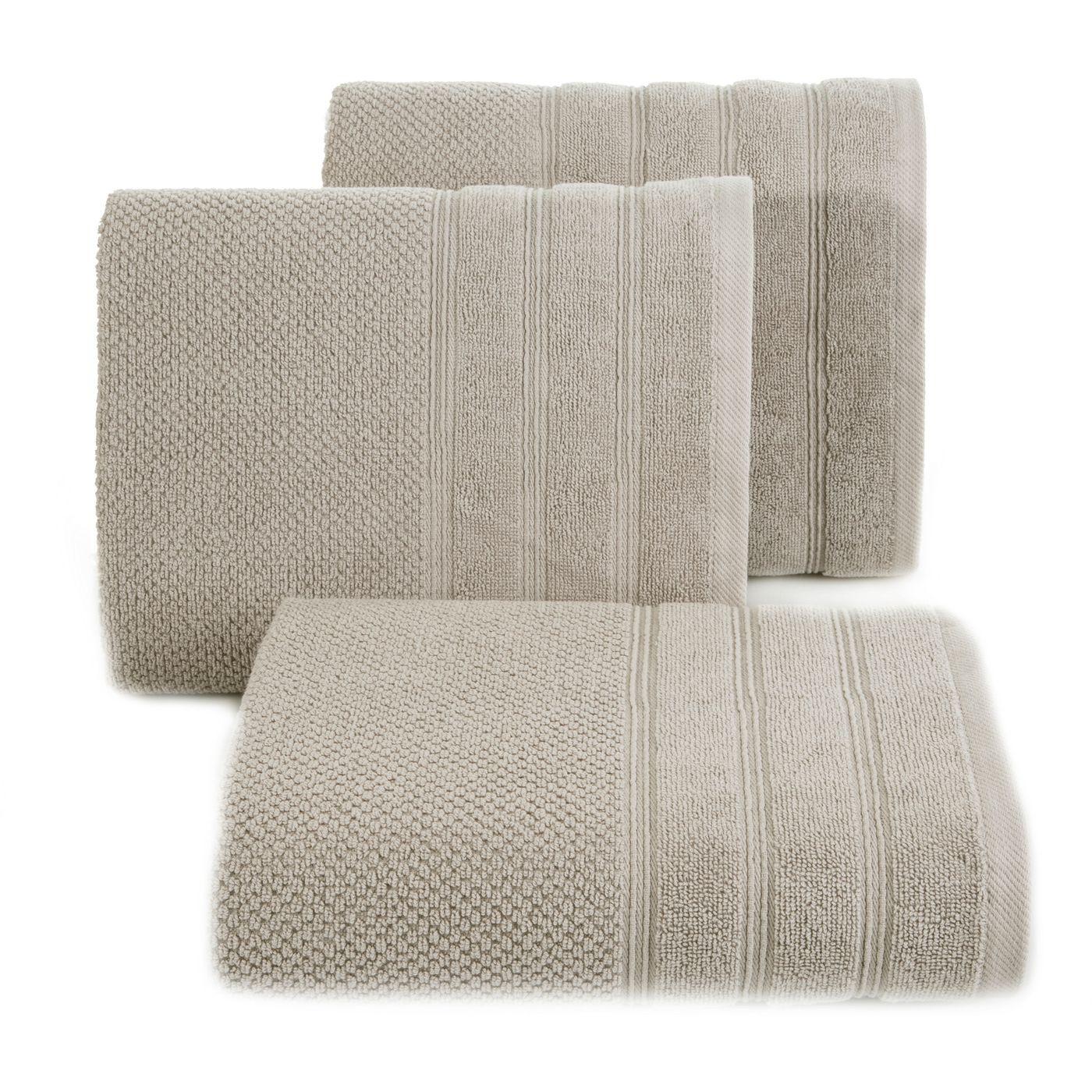 Bawełniany ręcznik kąpielowy frote beżowy 70x140