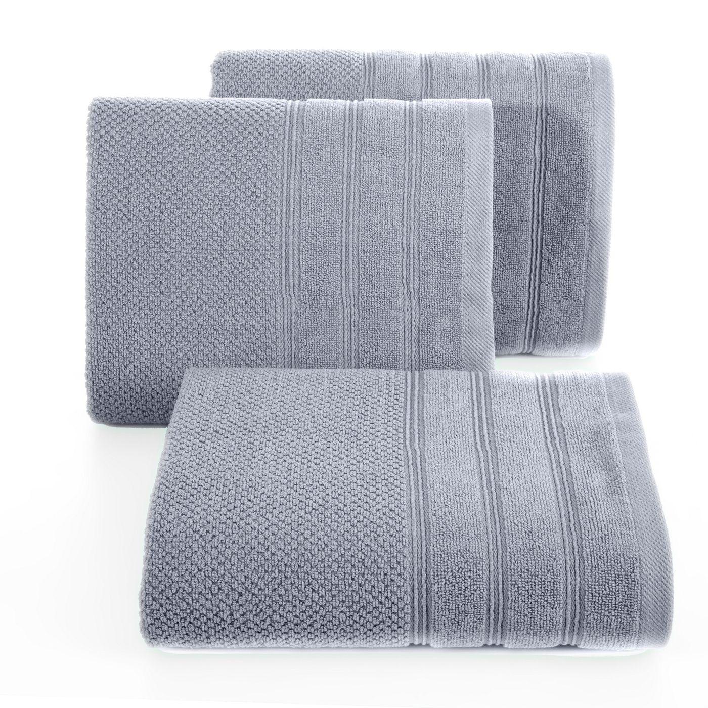 Bawełniany ręcznik kąpielowy frote srebrny 50x90