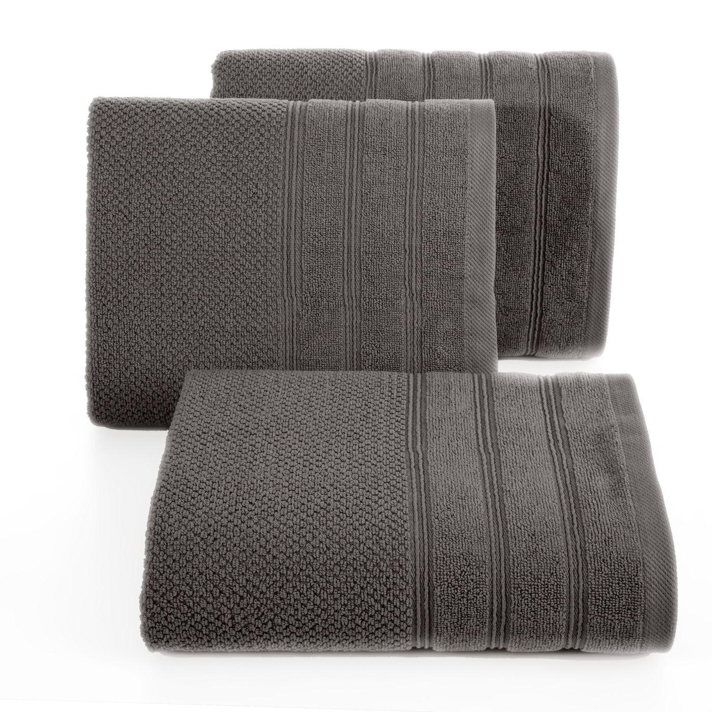 Bawełniany ręcznik kąpielowy frote grafitowy 50x90