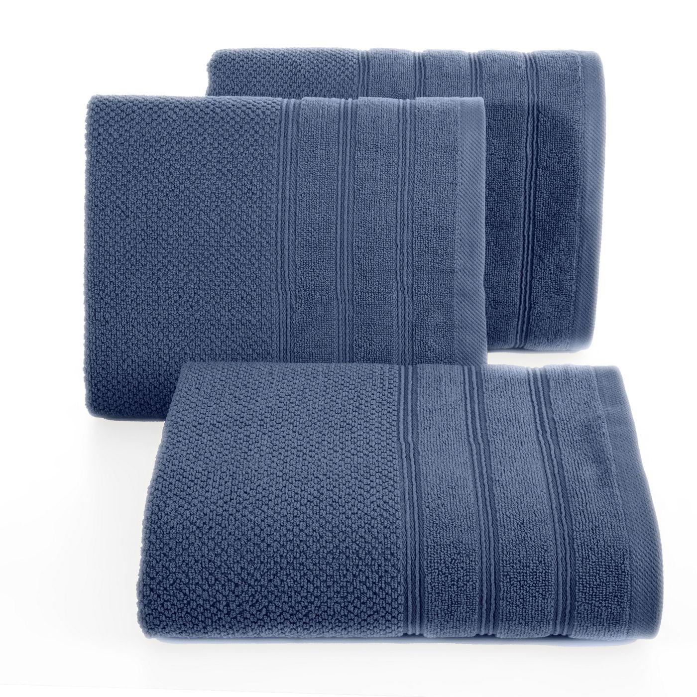 Bawełniany ręcznik kąpielowy frote niebieski 50x90
