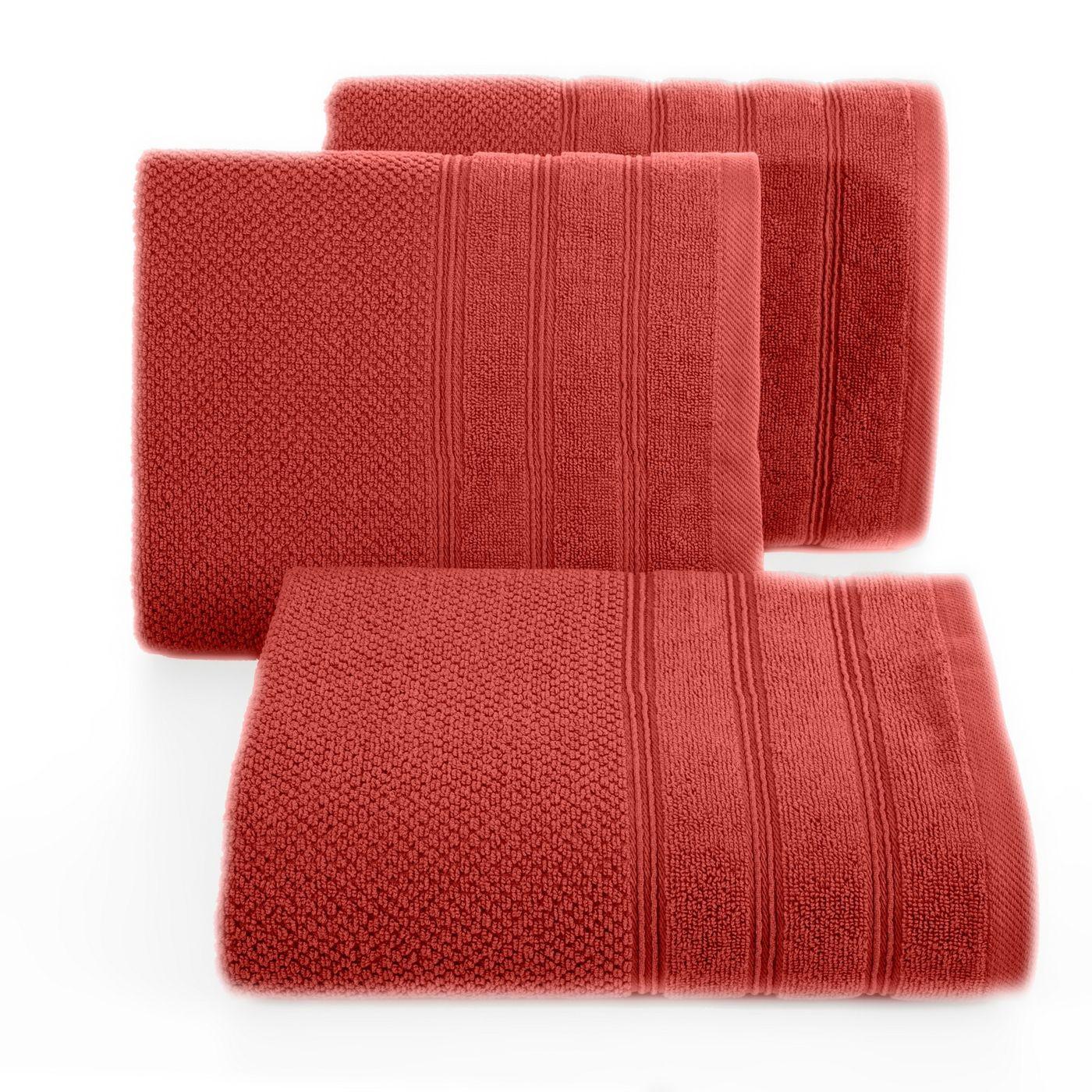 Bawełniany ręcznik kąpielowy frote ceglasty 50x90